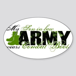 Son Law Combat Boots - ARMY Sticker (Oval)