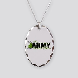 Son Combat Boots - ARMY Necklace Oval Charm