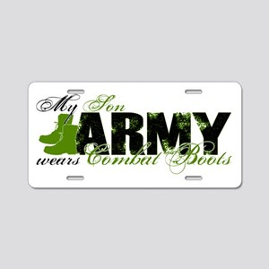 Son Combat Boots - ARMY Aluminum License Plate