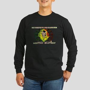 Rasta Lion Long Sleeve Dark T-Shirt