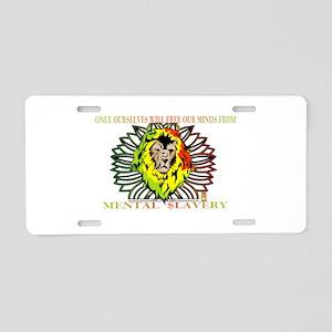Rasta Lion Aluminum License Plate