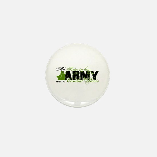 Sis Law Combat Boots - ARMY Mini Button