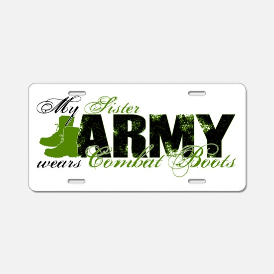 Sister Combat Boots - ARMY Aluminum License Plate