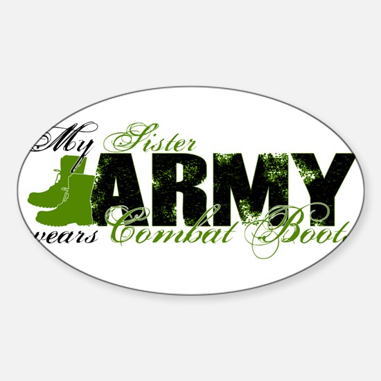 Sister Combat Boots - ARMY Sticker (Oval)