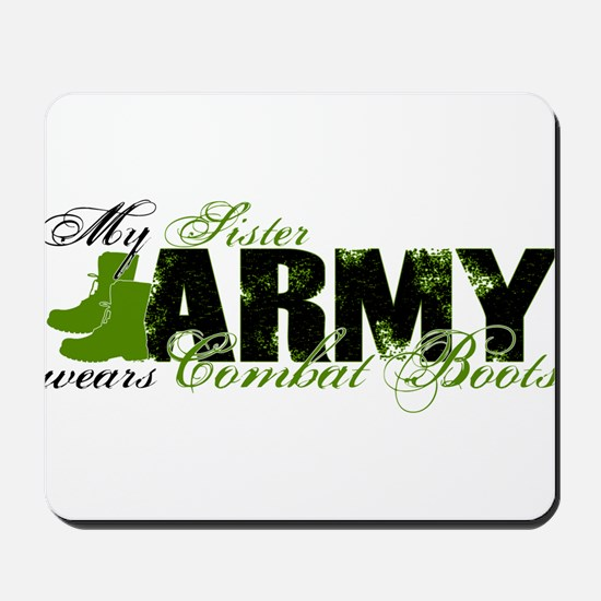 Sister Combat Boots - ARMY Mousepad