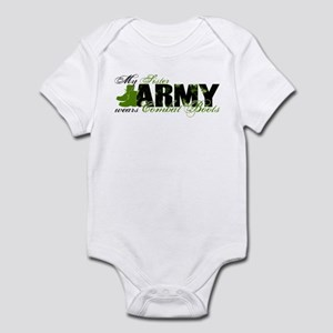 Sister Combat Boots - ARMY Infant Bodysuit