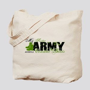 Sister Combat Boots - ARMY Tote Bag