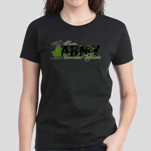 Sister Combat Boots - ARMY Women's Dark T-Shirt