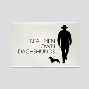 Real Men Own Dachshunds Rectangle Magnet