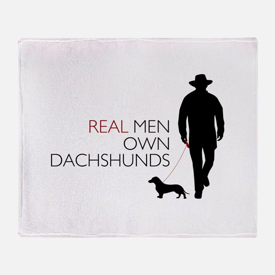 Real Men Own Dachshunds Throw Blanket