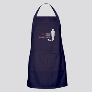 Real Men Own Dachshunds Apron (dark)