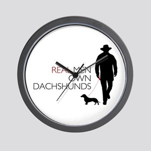 Real Men Own Dachshunds Wall Clock