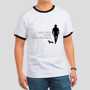 Real Men Own Dachshunds Ringer T