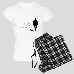 Real Men Own Dachshunds Women's Light Pajamas