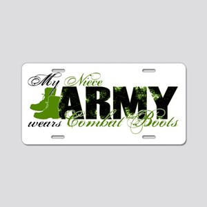 Niece Combat Boots - ARMY Aluminum License Plate
