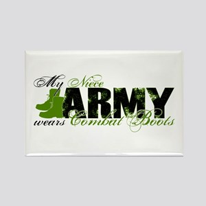 Niece Combat Boots - ARMY Rectangle Magnet