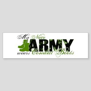 Niece Combat Boots - ARMY Sticker (Bumper)