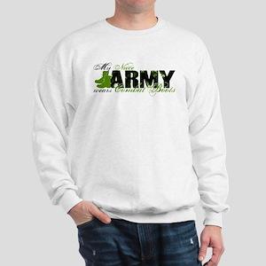 Niece Combat Boots - ARMY Sweatshirt