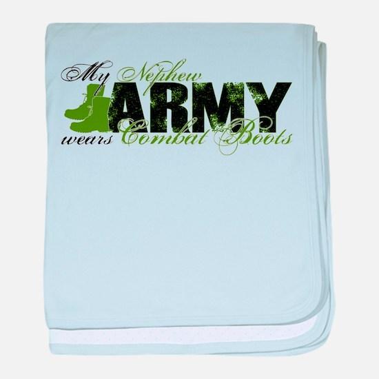 Nephew Combat Boots - ARMY baby blanket