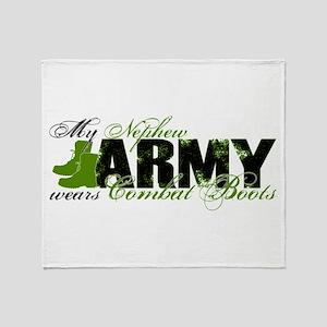 Nephew Combat Boots - ARMY Throw Blanket