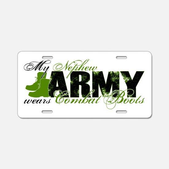 Nephew Combat Boots - ARMY Aluminum License Plate