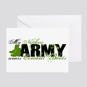 Nephew Combat Boots - ARMY Greeting Cards (Pk of 1