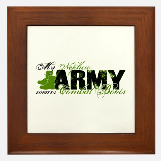 Nephew Combat Boots - ARMY Framed Tile