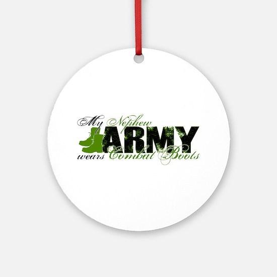 Nephew Combat Boots - ARMY Ornament (Round)