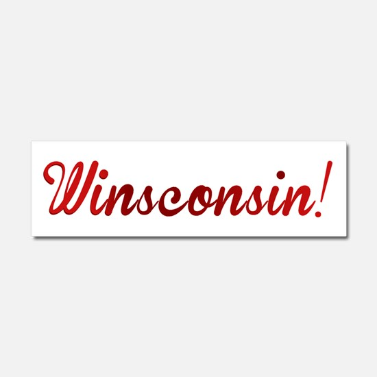 Winsconsin! Putting the WIN i Car Magnet 10 x 3
