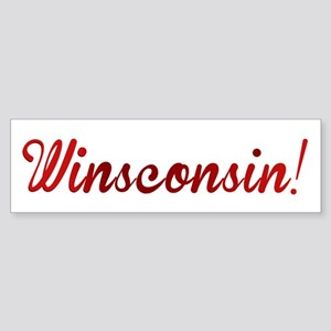 Winsconsin! Putting the WIN i Sticker (Bumper)