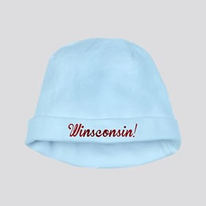 Winsconsin! Putting the WIN i baby hat