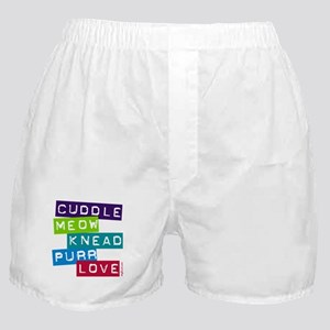 Cuddle Meow Knead Purr Love Boxer Shorts