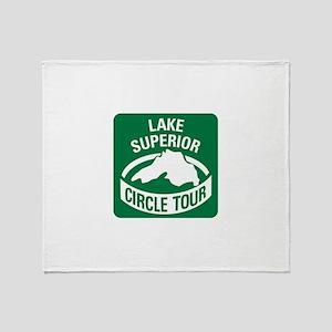 Lake Superior Circle Tour Throw Blanket