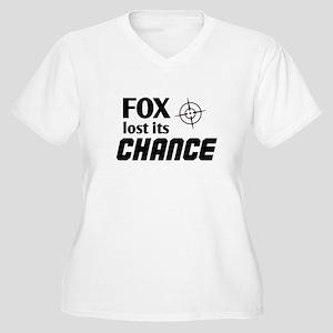 FOX LOST ITS CHANCE - Women's Plus Size V-Neck