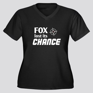 FOX LOST ITS CHANCE -Women's Plus Size V-Neck Dark