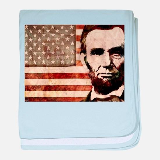 Abraham Lincoln baby blanket