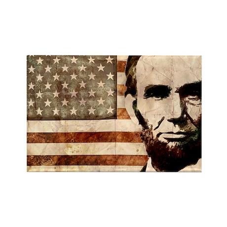 Abraham Lincoln Rectangle Magnet (100 pack)