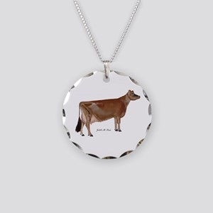Jersey Cow Necklace Circle Charm