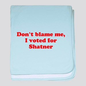 Don't blame me funny baby blanket