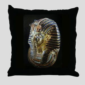 Tutankhamon's Golden Mask Throw Pillow