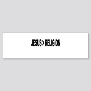 Jesus Greater Than Religion Sticker (Bumper)