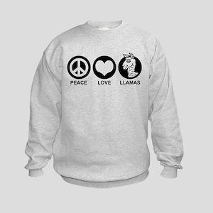 Peace Love Llama Kids Sweatshirt