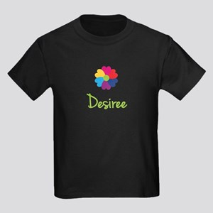 Desiree Valentine Flower Kids Dark T-Shirt