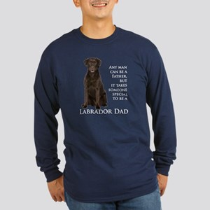 Chocolate Lab Dad Long Sleeve Dark T-Shirt