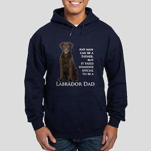 Chocolate Lab Dad Hoodie (dark)