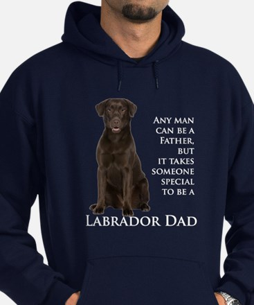 Chocolate Lab Dad Hoodie (dark)