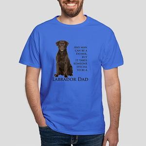 Chocolate Lab Dad Dark T-Shirt