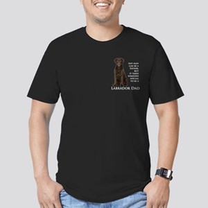 Chocolate Lab Dad Men's Fitted T-Shirt (dark)