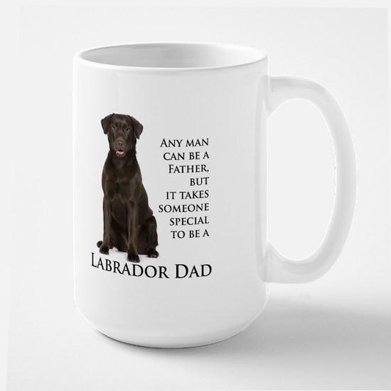 Chocolate Lab Dad Large Mug