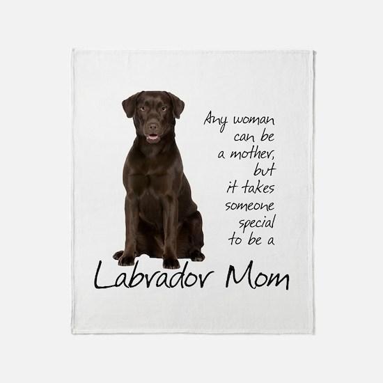 Chocolate Lab Mom Throw Blanket